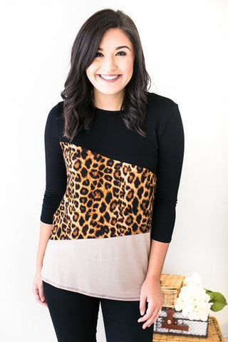Queen of the Jungle Color Block Top