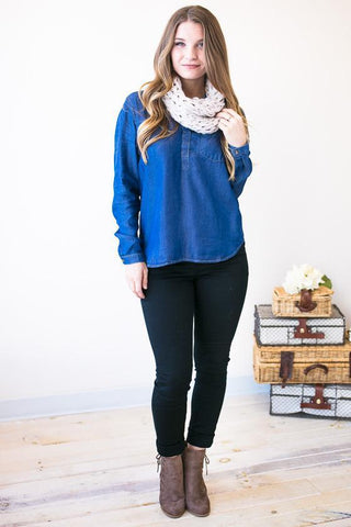 Shirt and Sweet Chambray Top