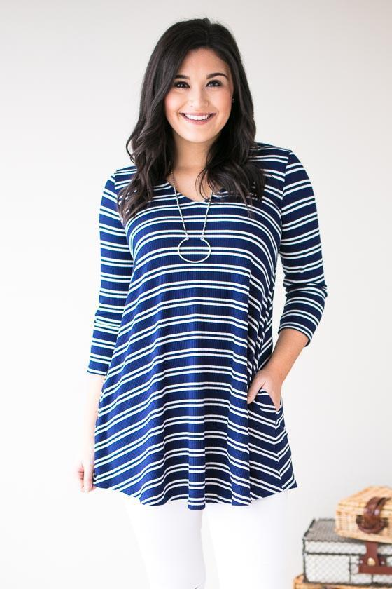 Vacation In Nantucket Stripe Tunic