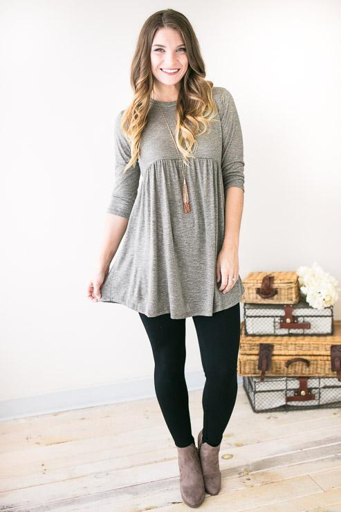 The One And Only Mild Olive Babydoll Tunic