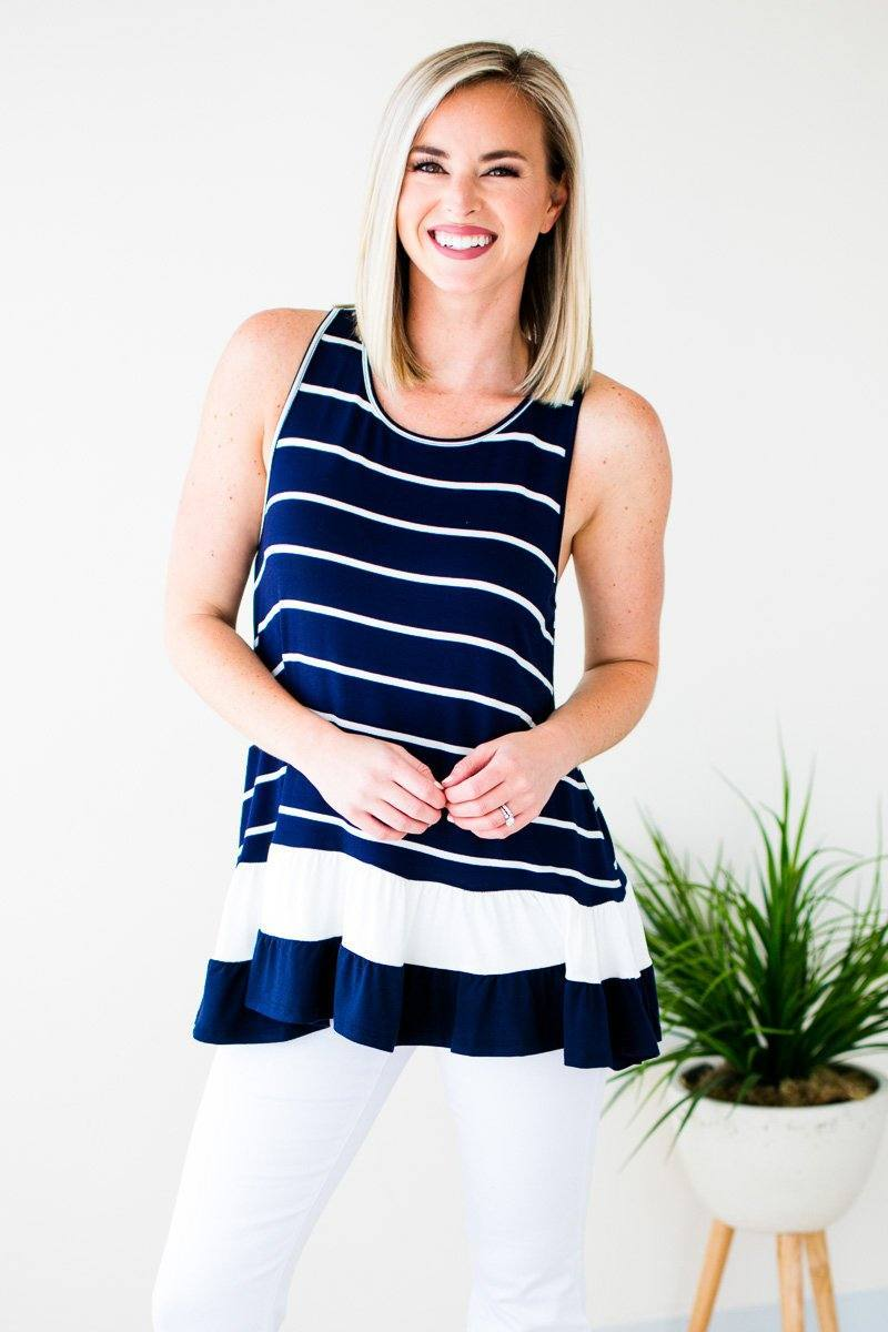Striped Tunic Tank
