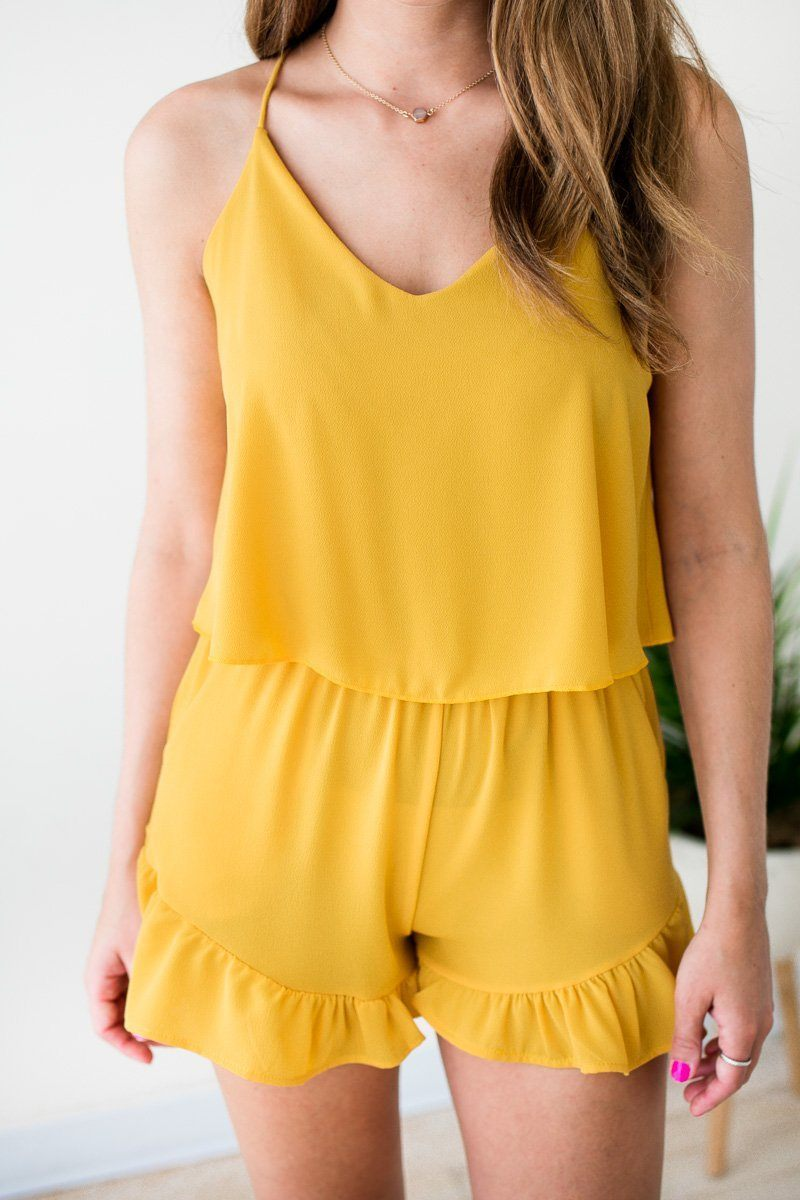 Ruffle Bottom Romper