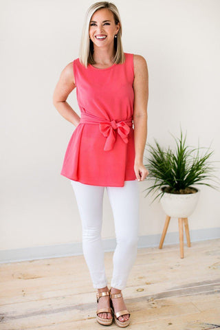 Ten out of Ten Cold Shoulder Peach Top