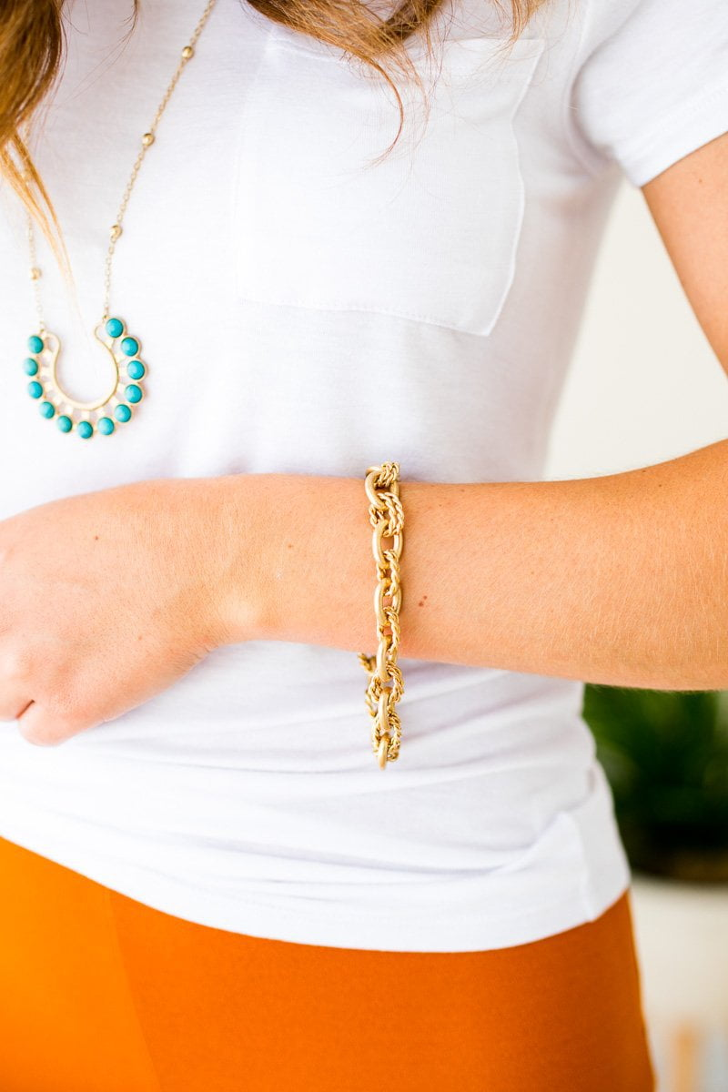 Gold Chain Linked Bracelet