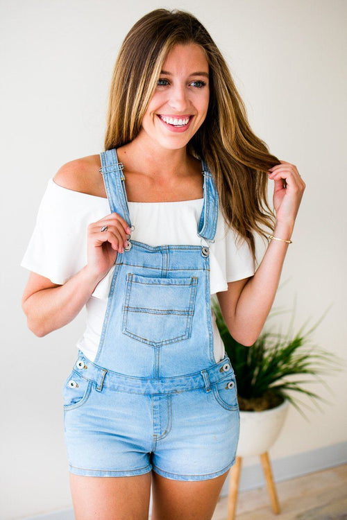 Light Wash Overalls