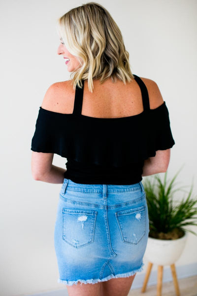 Tops Ball For Me Cross Front Off Shoulder Top - Lotus Boutique