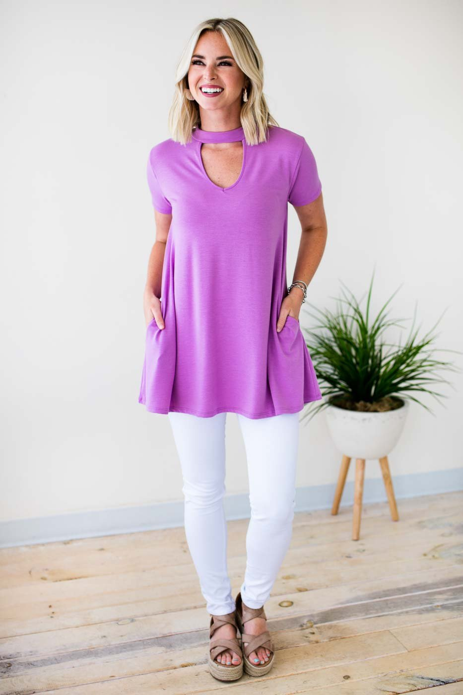 Choker Neck Pocket Tunic