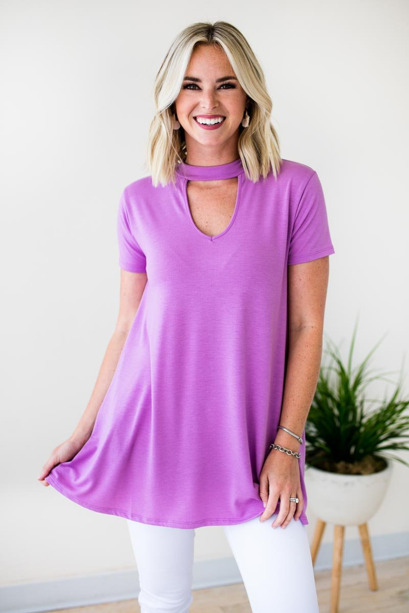 Choker Neck Tunic