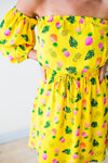 Dresses Do Your Thing Pineapple Off the Shoulder Dress - Lotus Boutique