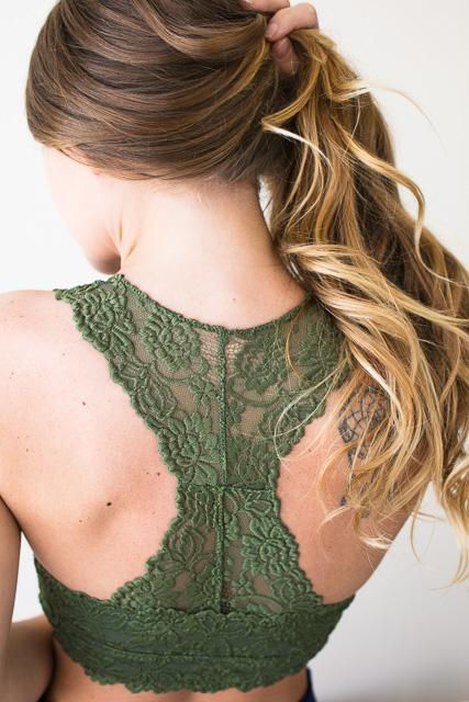 a0c157a14f First Rose Olive Lace Bralette-Accessories-Lotus Boutique-Lotus Boutique