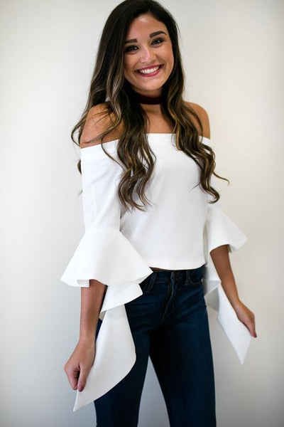 Habit Of You Off The Shoulder Top-Tops-Lotus Boutique-Lotus Boutique