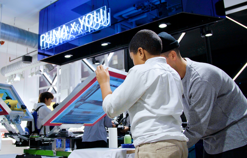 PUMA x YOU (NYC): Our Screen Printing Workshop for Kids!