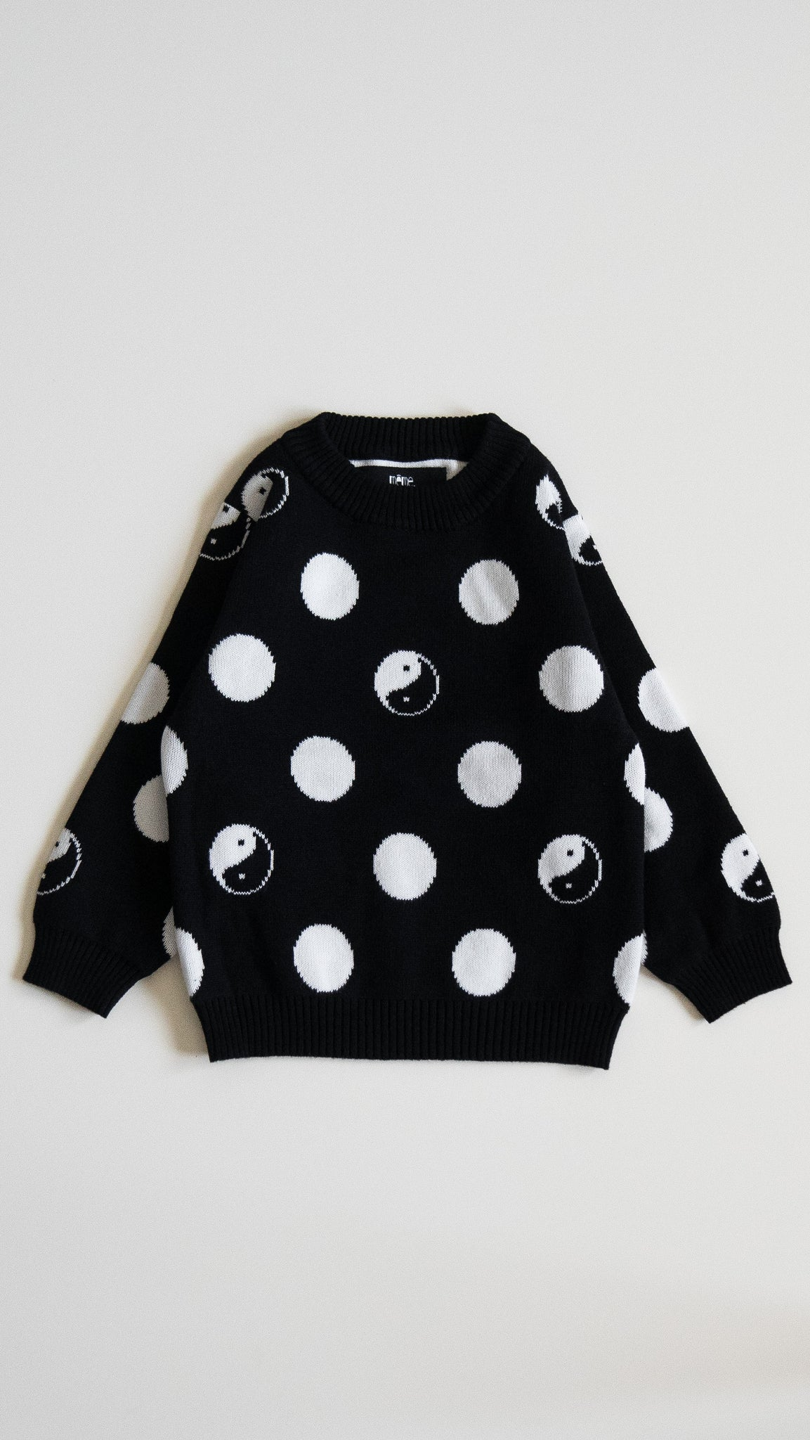 yin/yang knit sweater