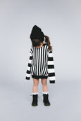 'rei' knit sweater / black stripes