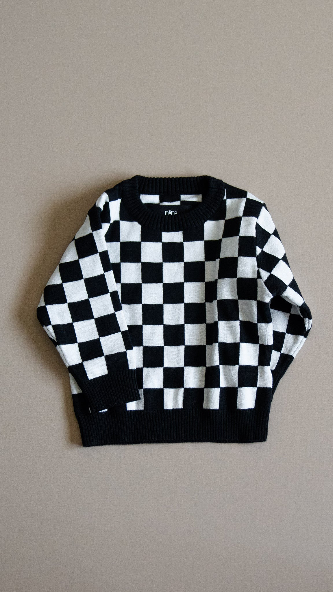 BABY knit sweater / checkers
