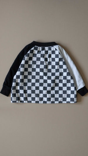 KIDS 'frankie' varsity jacket / vintage checkers