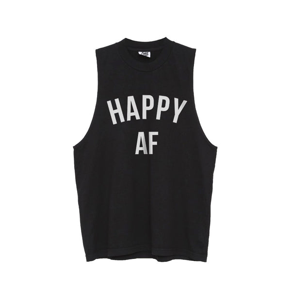 Happy AF Muscle Tee (FREE US SHIPPING)