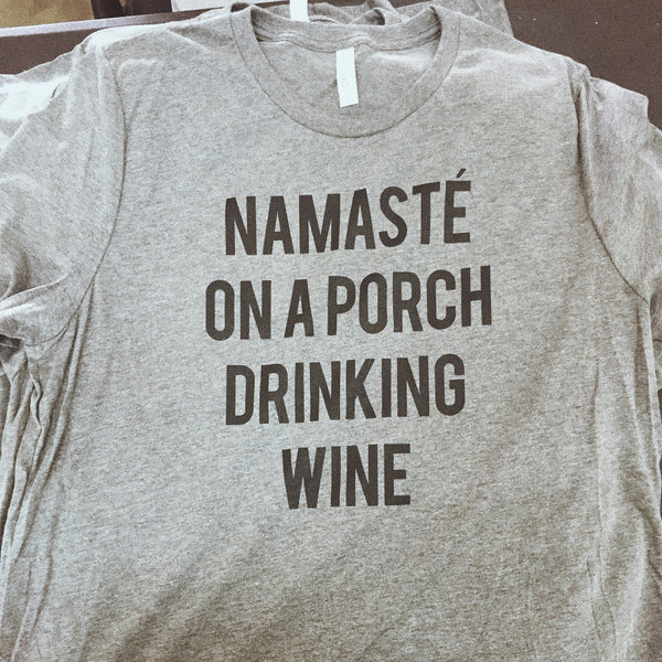 Namaste' on a Porch Unisex Shirt