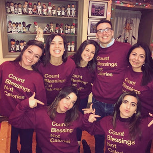 Count Blessings Not Calories Fleece