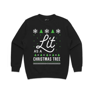 Lit as a Christmas Tree Unisex Fleece