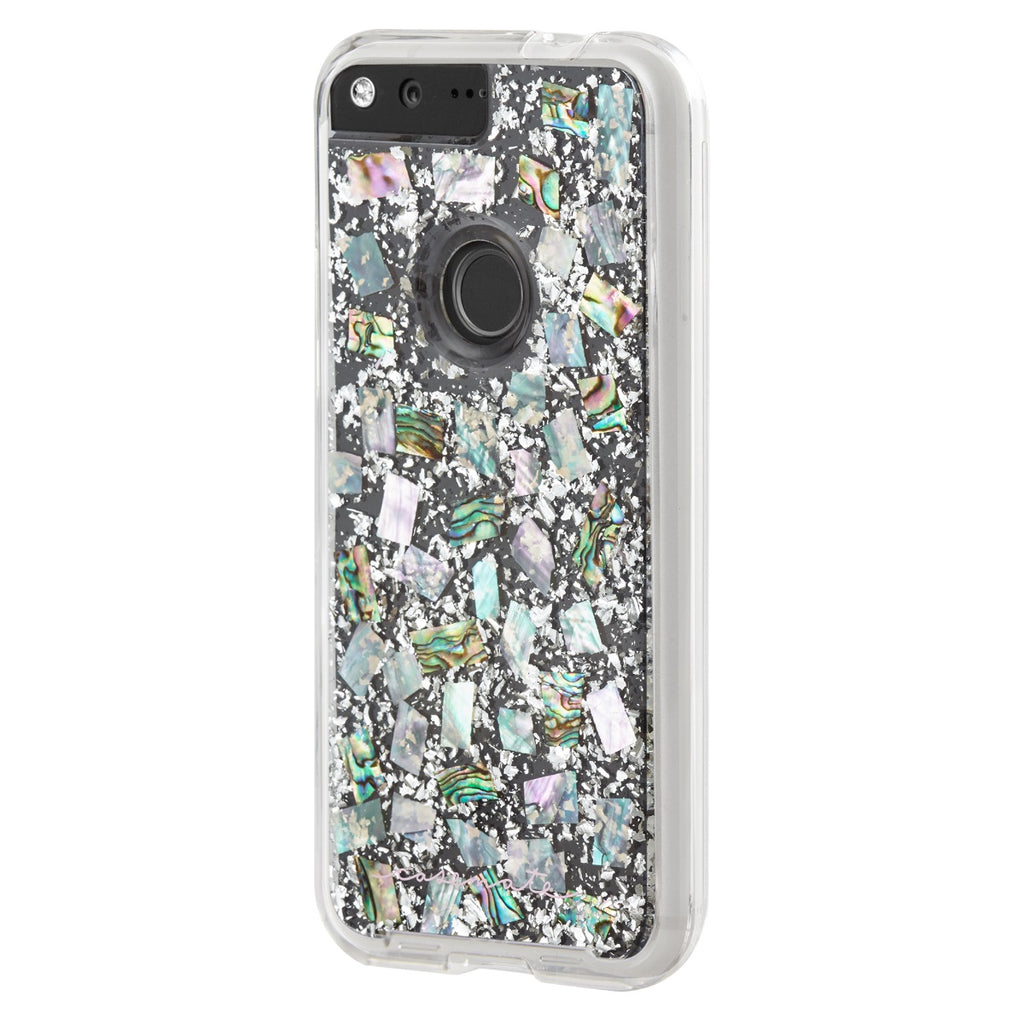 buy popular 106bd b38ea Case-Mate Karat Pearl Case Dual Layer Protection with Shock Absorbing  Bumper and Metallic Buttons for Google Pixel XL - Mother of Pearl