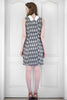 Handcrafted Ikat Grey Cotton Dress