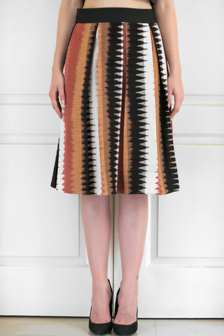 Pleated Ikat Skirt