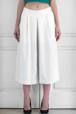 Ivory Wide-Legged Culottes