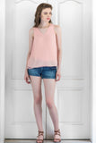 Salmon Summer Crush Georgette Top