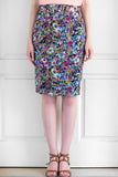 The Floral Cotton Silk Skirt