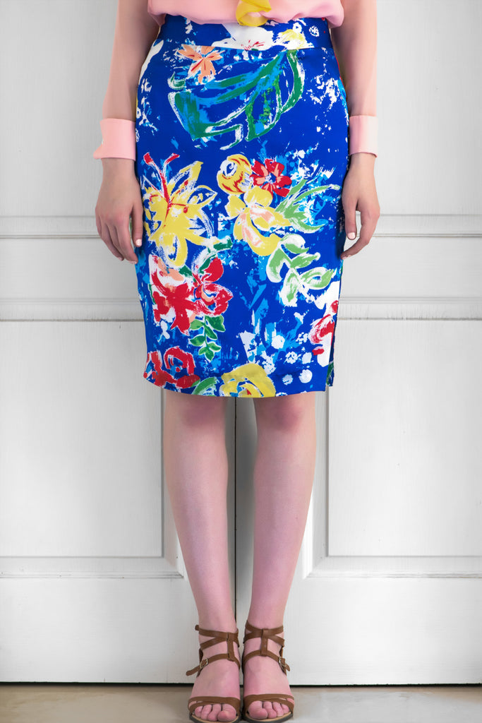 The Starry Night Silk Satin Skirt