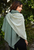 Green Winter Waffle Layered Cape