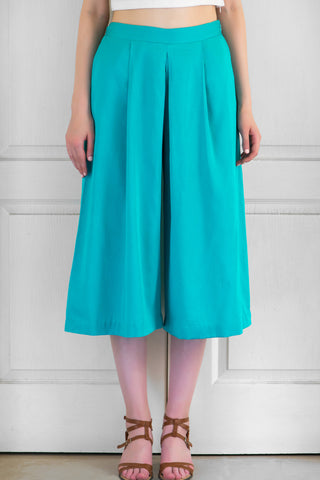 Teal Wide-Legged Culottes