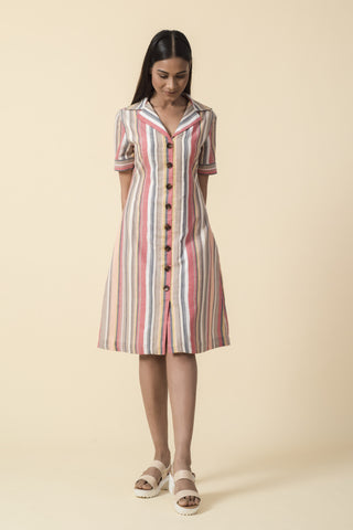 Heart On My Sleeve Grey Striped Dress