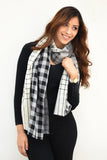 Grey Triple Layered Scarf