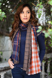 Navy Triple Layered Scarf