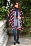 Red Blanket Season Reversible Cape