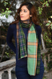 Green Triple Layered Scarf