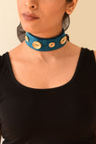 Teal & Gold Neck Choker