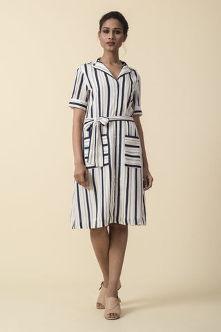 Classic Flared Sleeve Dress