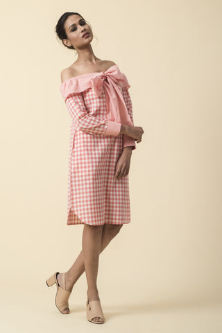 Pink Linen Sailor Dress