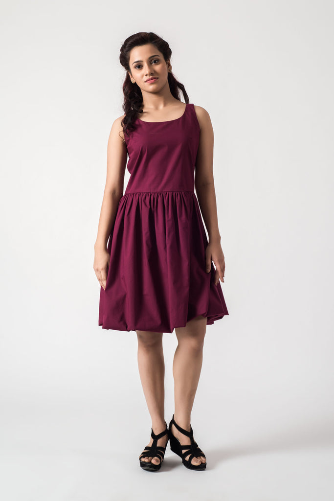 Scoop Neck Flounce Dress