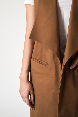 Collared Camel Cape