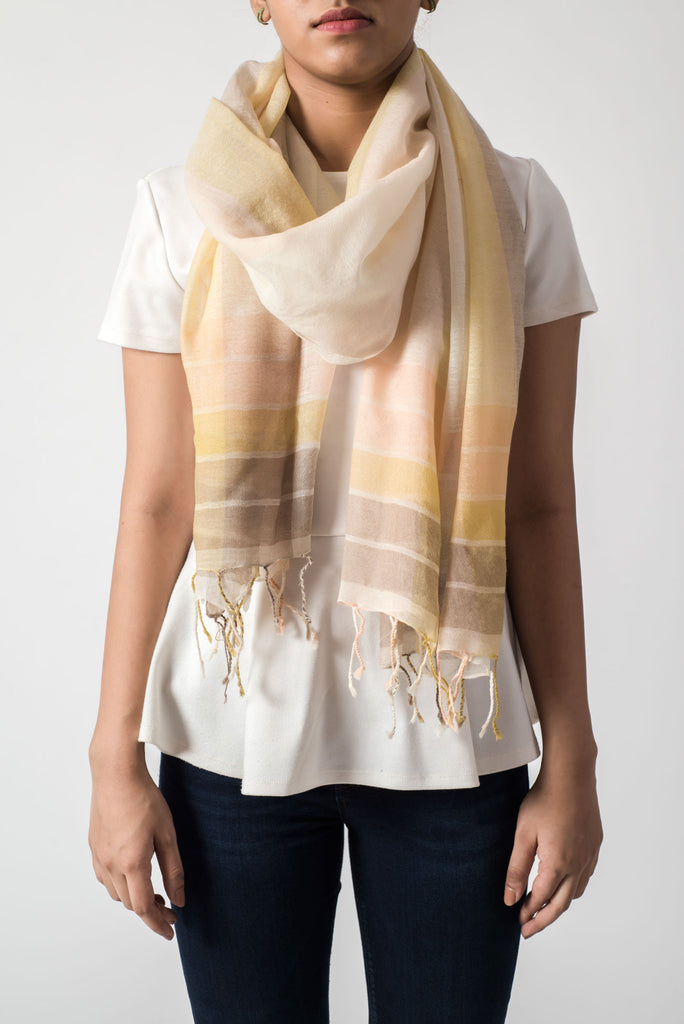 Pastel Striped Scarf