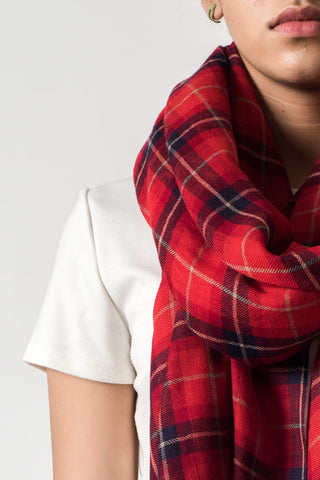 Checkered Red Black Scarf