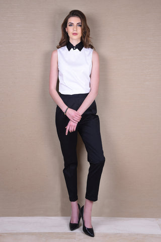 Timeless Black Shirt with Corset Belt