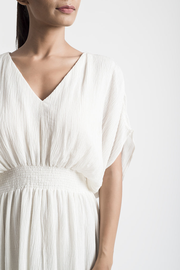 White Kaftan Cotton Dress