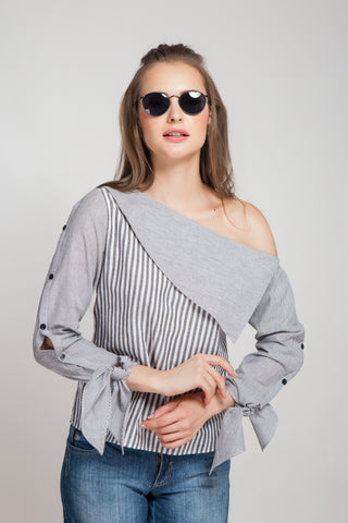 Fringe Benefits Top - Grey