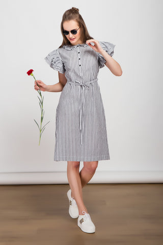 Madras Check Cotton Khadi Dress