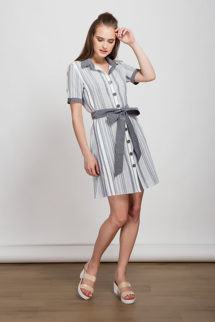 Keep It Simple Short Shirt Dress